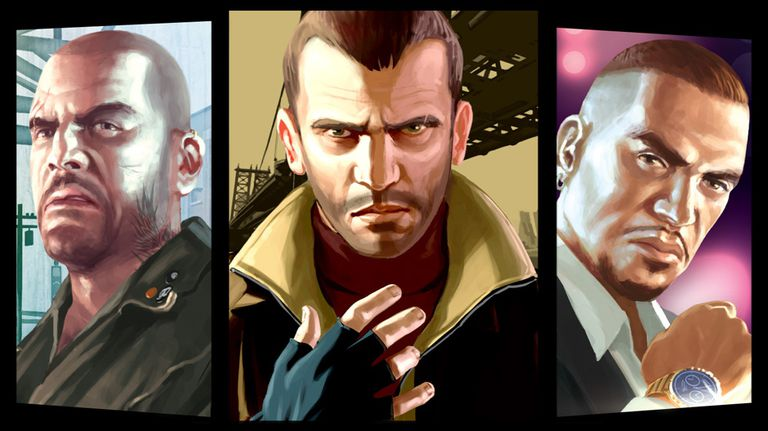 Three protagonists from GTA IV: Episodes from Liberty City