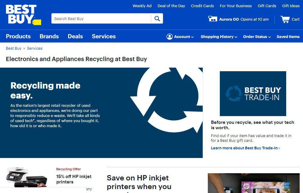 Best Buy Recycling Program