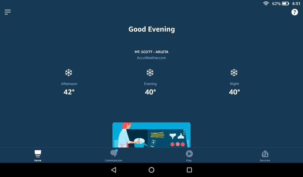 Tap the menu icon in the Alexa app.