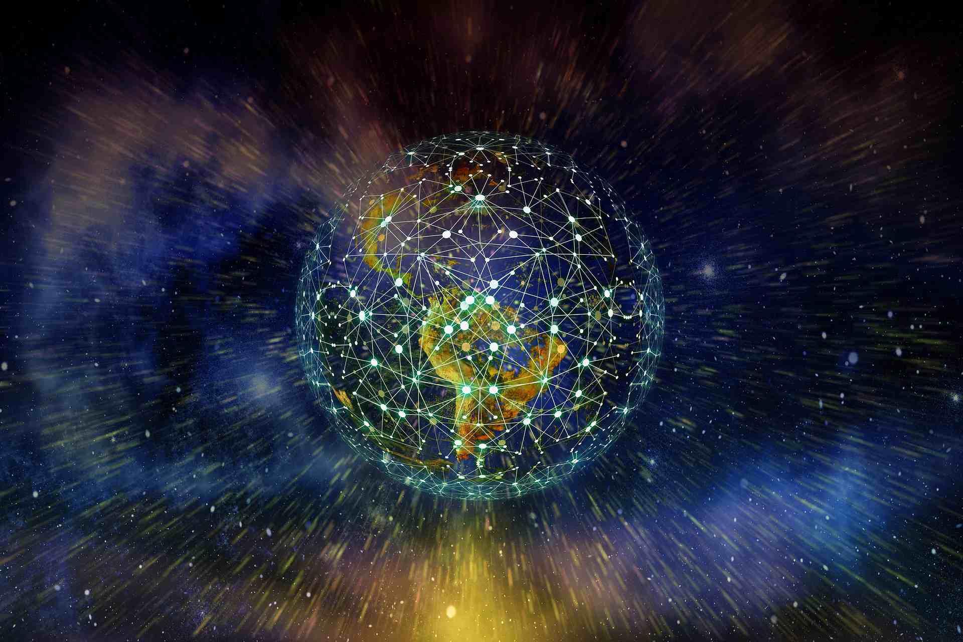 Illustration of a global network