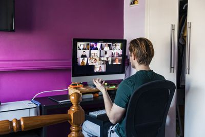 Image of videoconference without sound working
