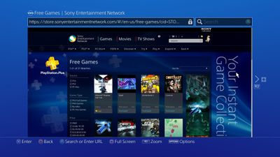 PS4 web browser