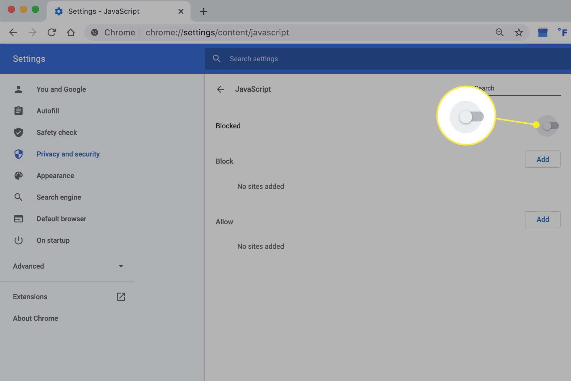 Blocking Java in Chrome