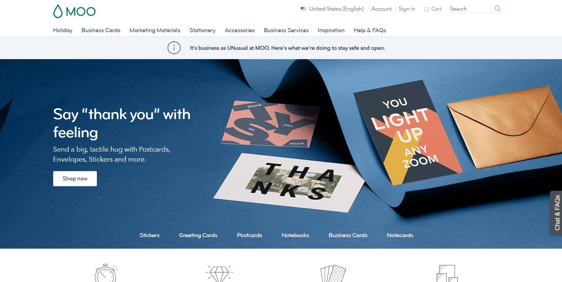 The Moo homepage