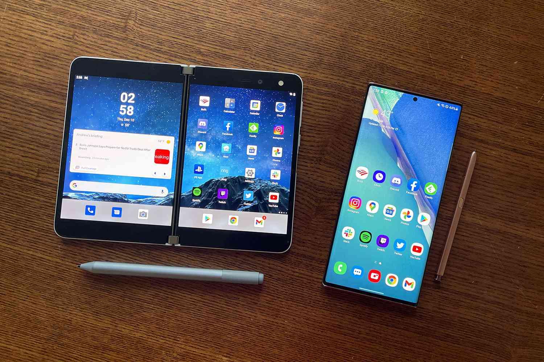 Microsoft Surface Duo vs. Samsung Galaxy Note20 Ultra 5G