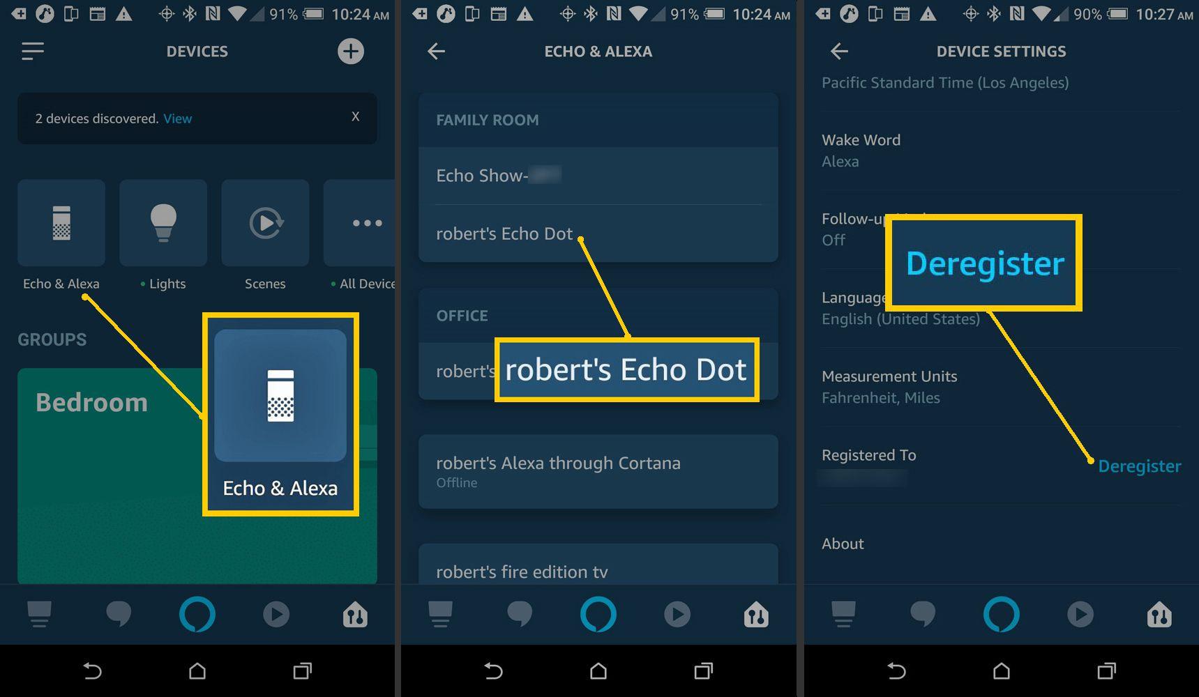 Alexa – Deregister Device Option