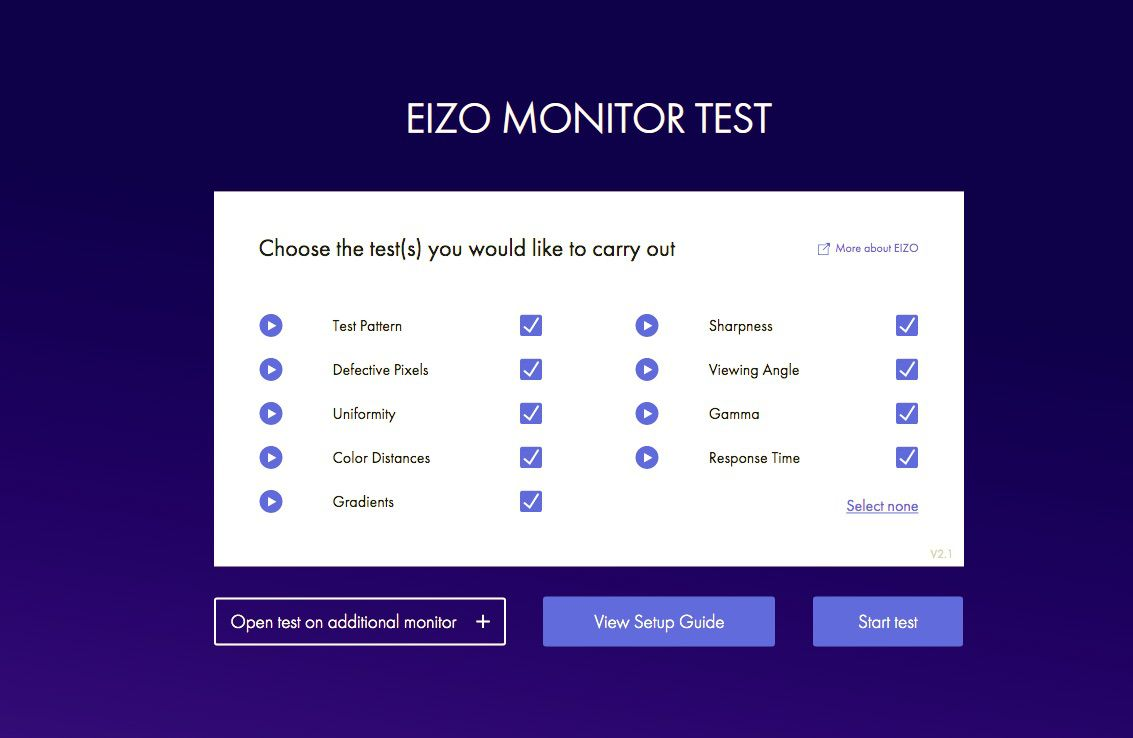 Eizo online monitor test tool