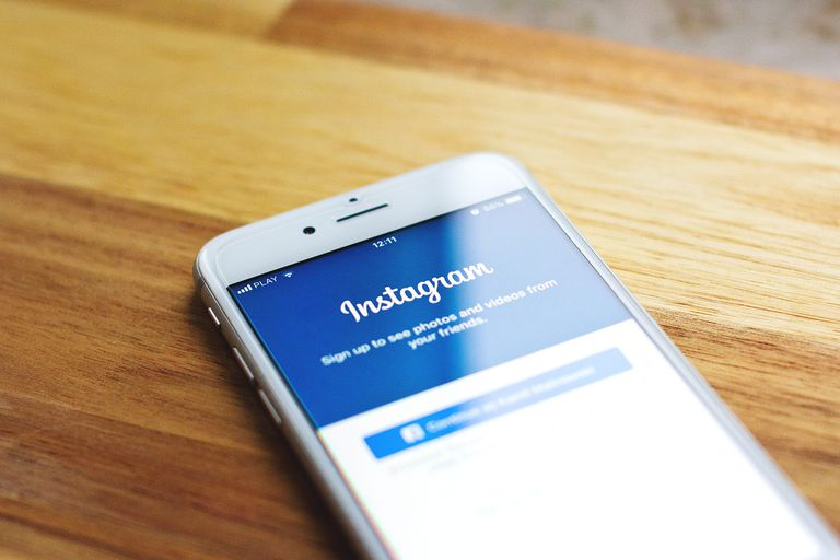 An image of the Instagram sign-in tab on a smartphone.