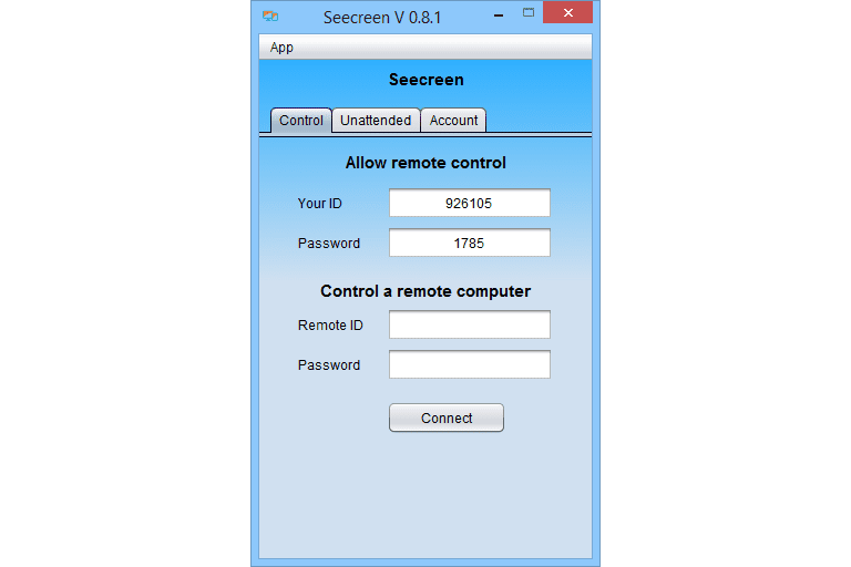 Seecreen v0 8 2 Review: A Free Remote Access Tool