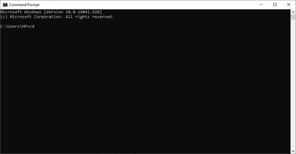 cd in Command Prompt