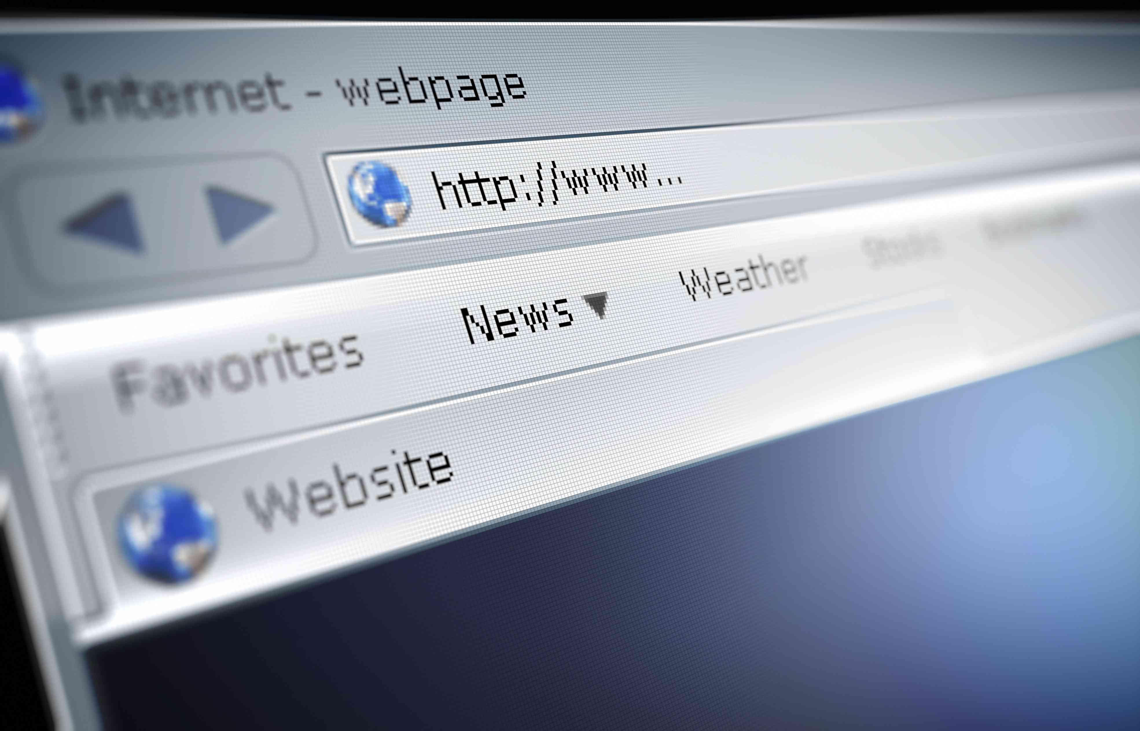 Screenshot of a website URL