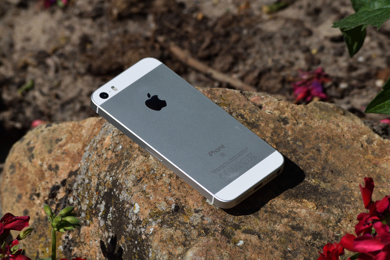 iPhone on rock