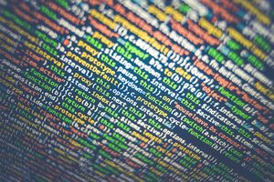 Multi-colored programming text