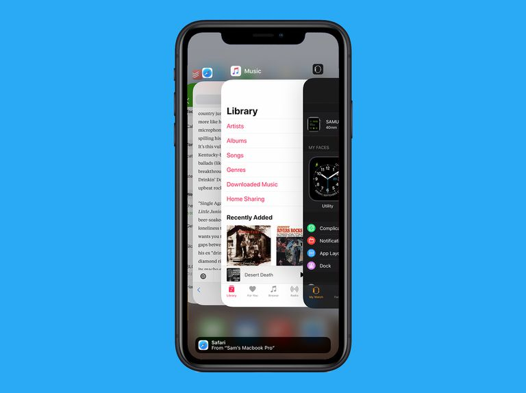 multitasking on iPhone in iOS 12
