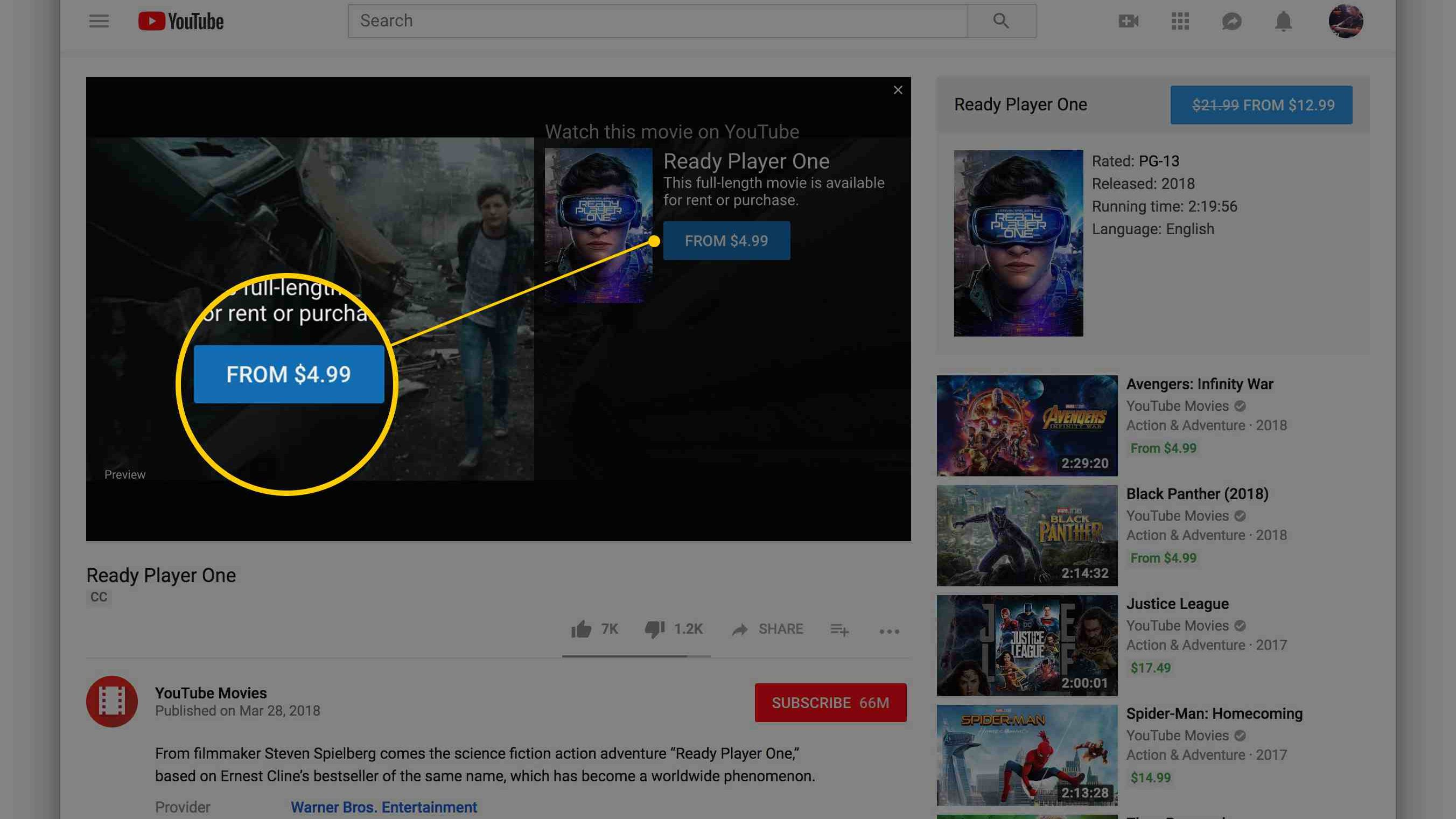 How To Rent Or Buy Movies With Youtube S Movie Rental Service