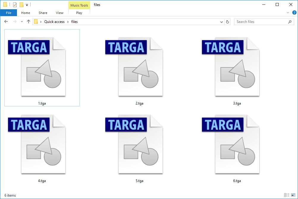 TGA files.