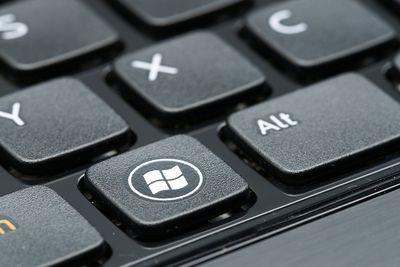 Windows sign on keyboard