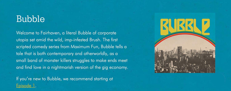 Bubble podcast