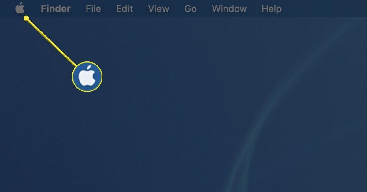 The Apple menu icon on Mac desktop