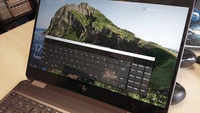 The on-screen keyboard at Windows 10 login screen.