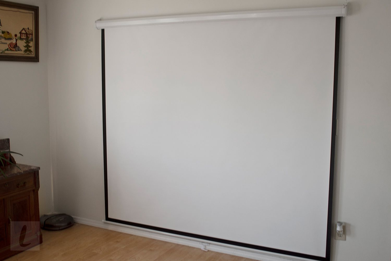 Best Choice Products 119-Inch HD Indoor Pull Down Projector Screen