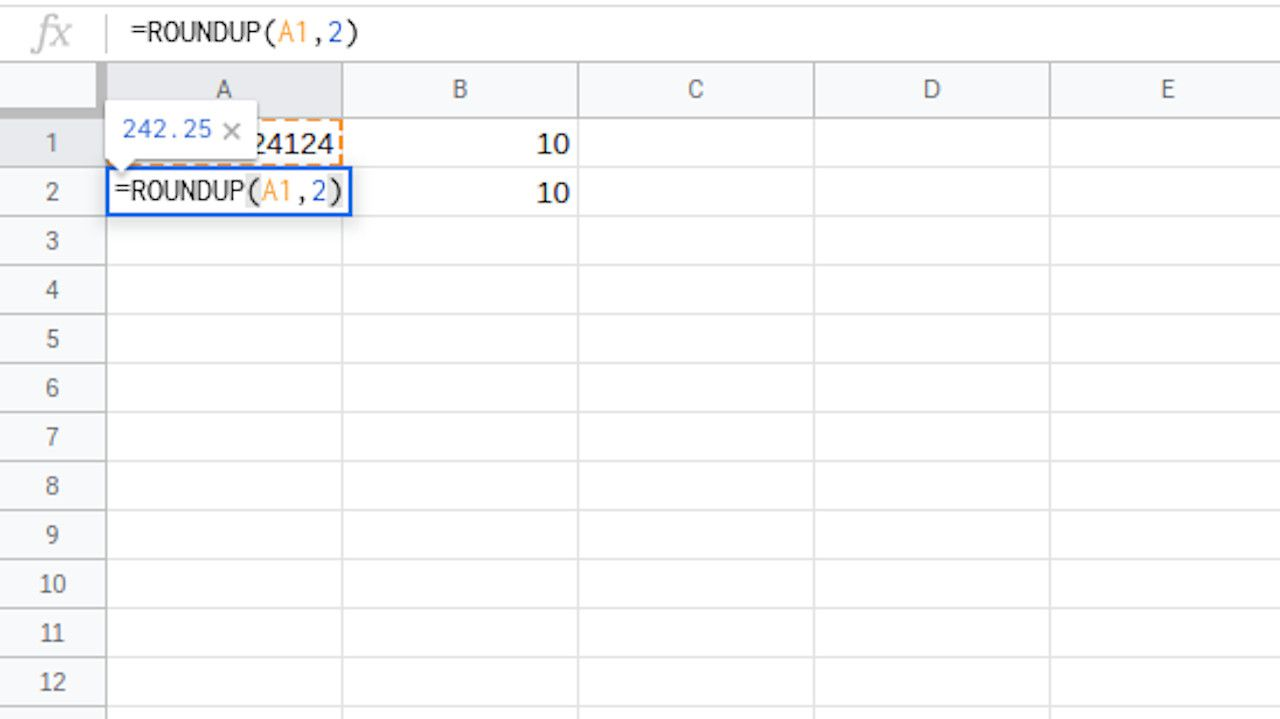 How to Round Numbers Up in Google Spreadsheets