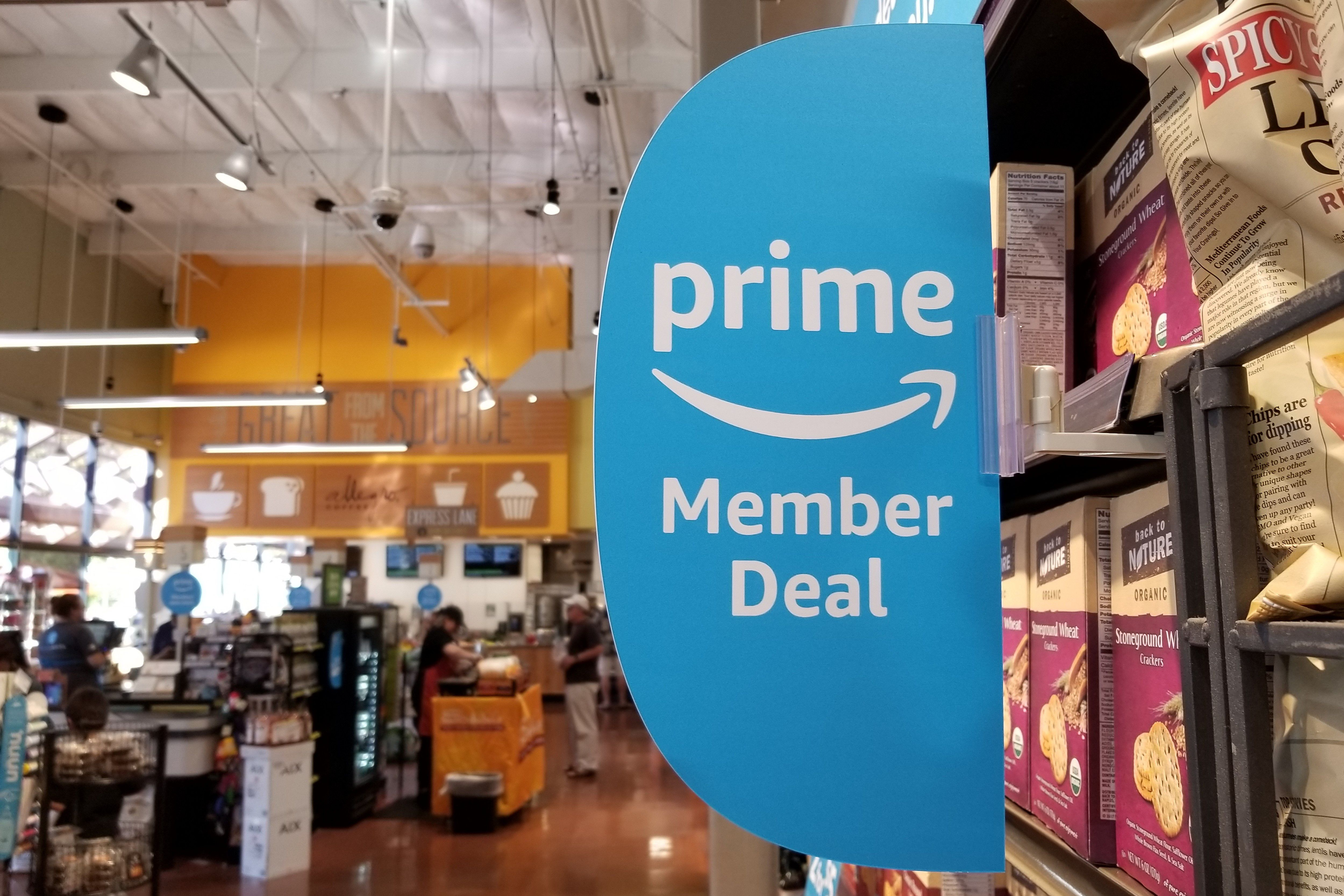 Prime Member Deal sign at Whole Foods