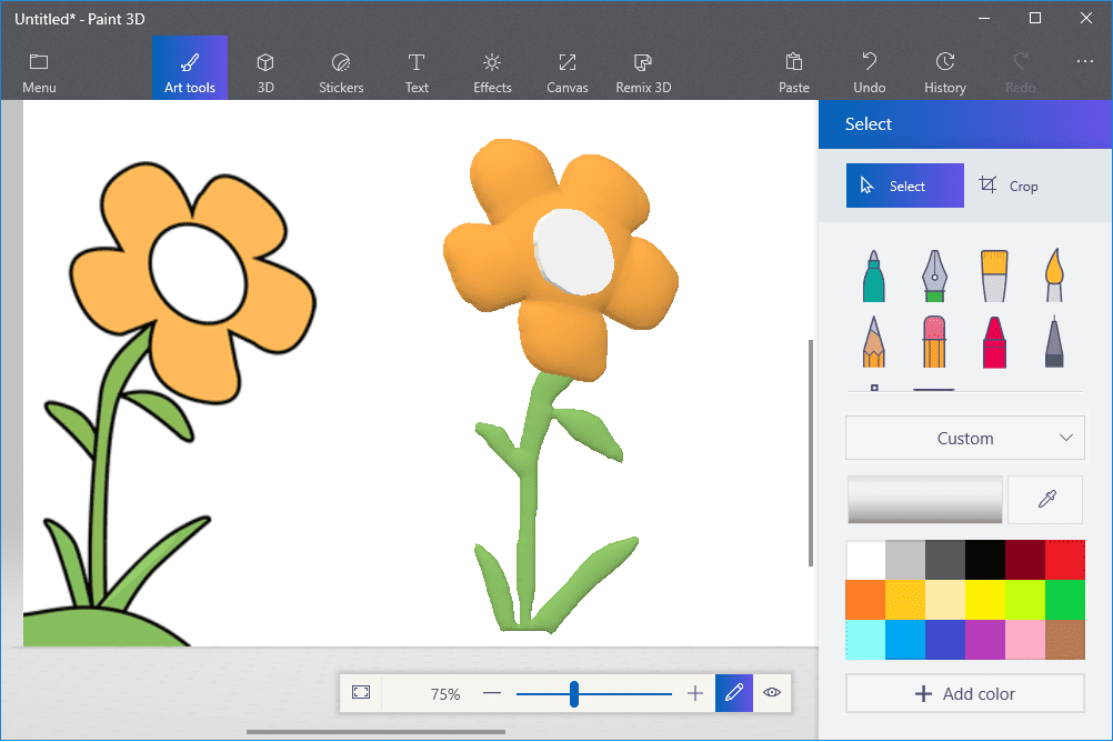 How to turn a 2d drawing into 3d art in paint 3d for 3d drawing online no download