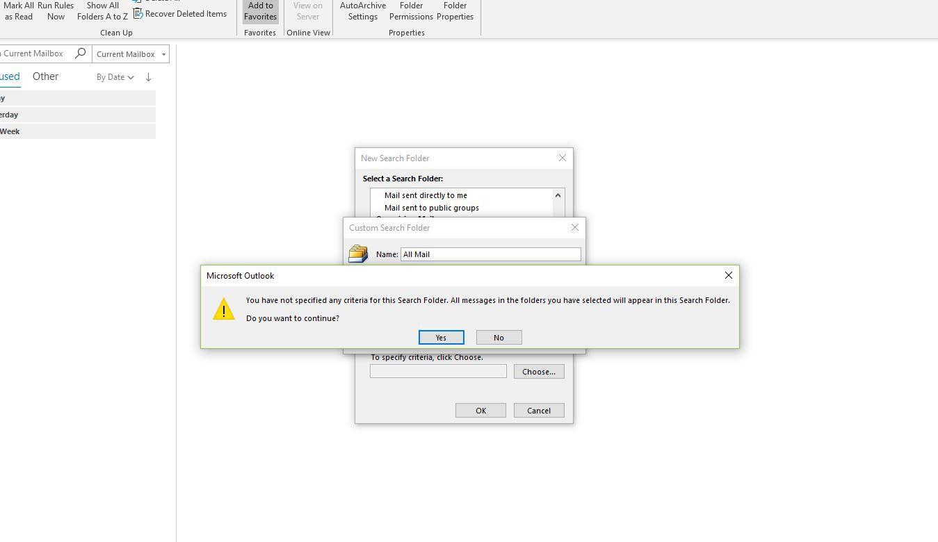 Screenshot of Do you want to continue dialog