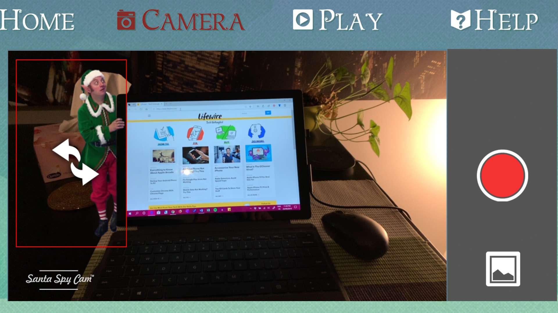 Santa Spy Cam 3 app on iPhone.