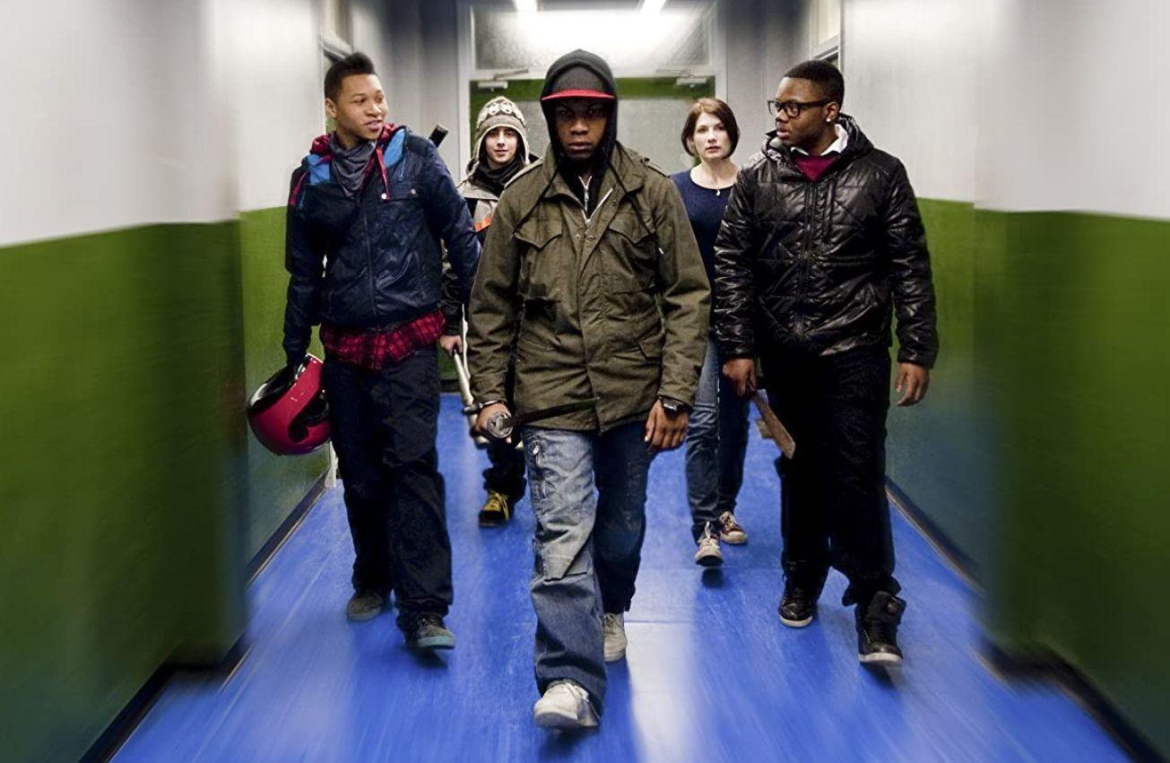 Jodie Whittaker, Franz Drameh, Alex Esmail, Leeon Jones, and John Boyega in 'Attack the Block'