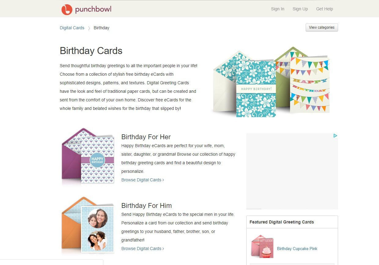 Punchbowl Birthday E Cards