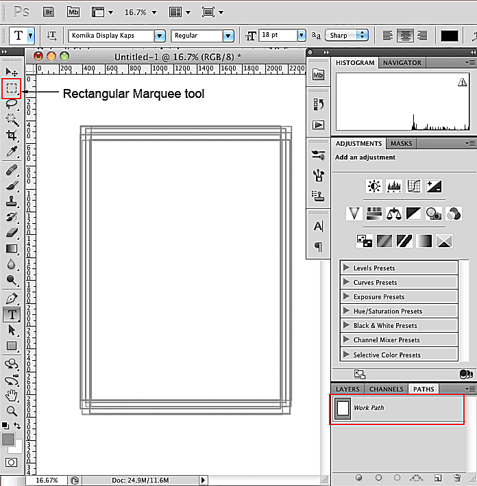 How To Add a Wavy Line Border to a Rectangle in Photoshop