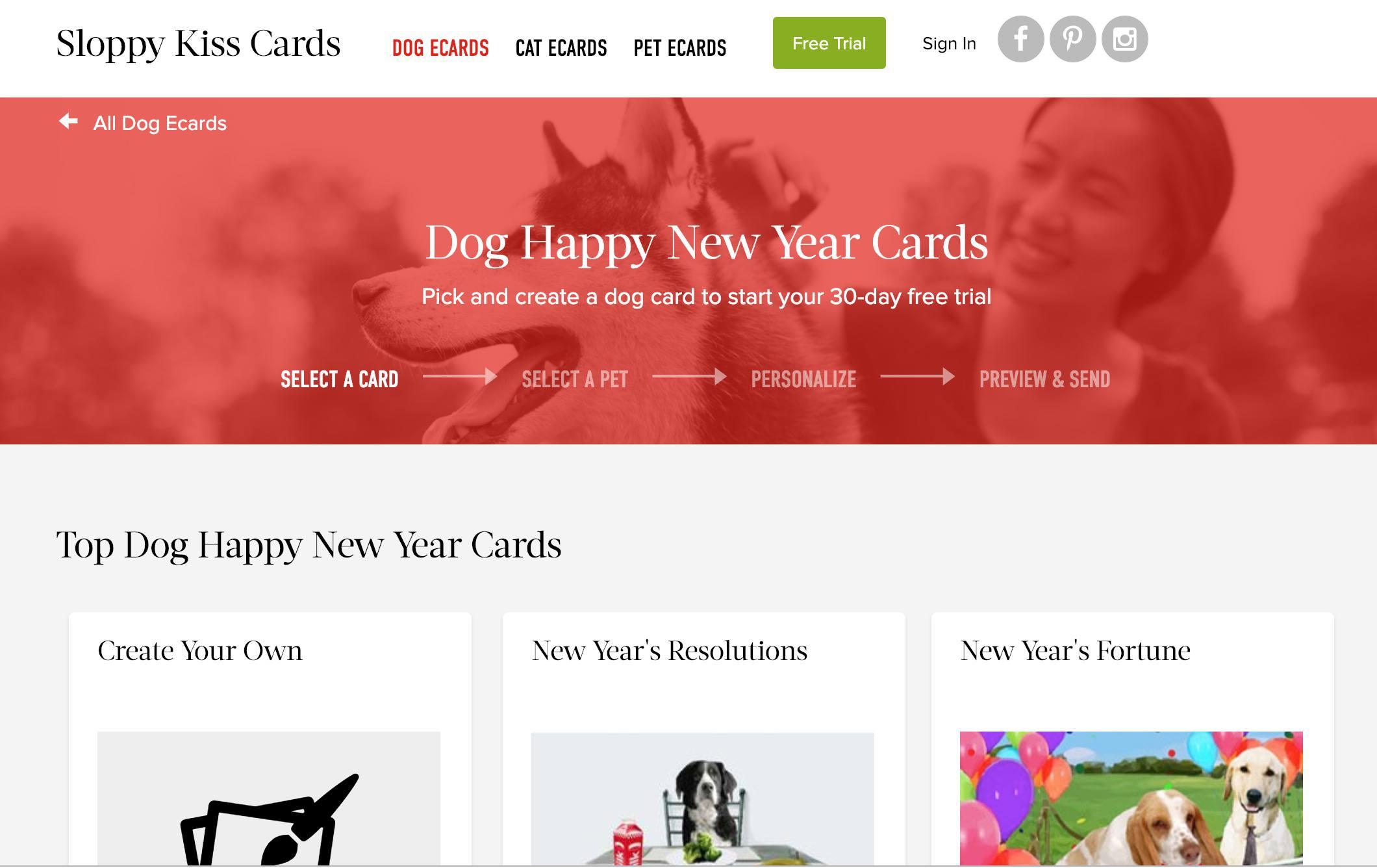 Sloppy Kiss cards website