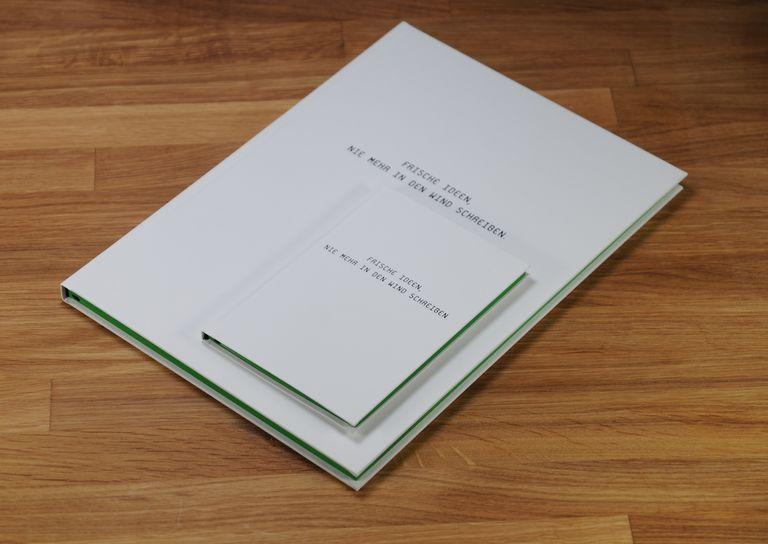 Notizbuch Farbschnitt grün 01