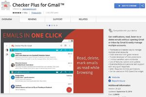 Screenshot of the Checker Plus for Gmail extension for Gmail