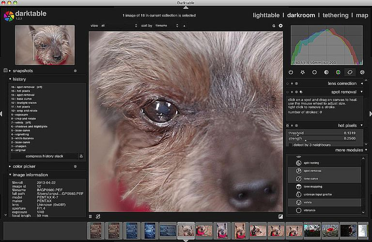 Darktable for Mac and Linux