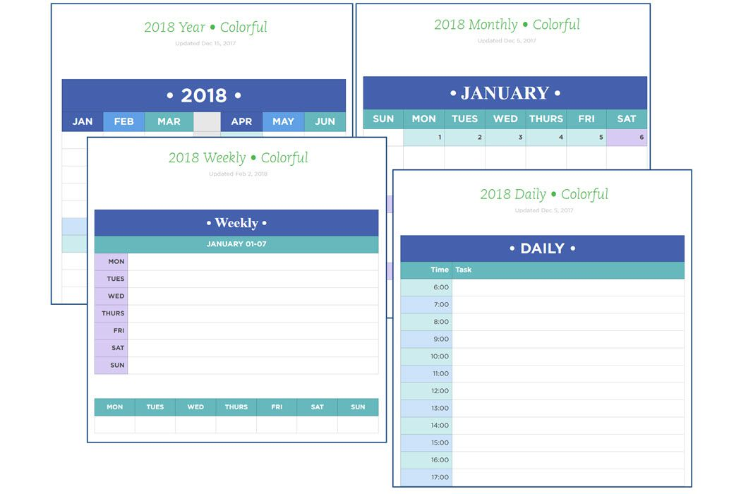 Weekly Calendar Evernote : Evernote calendars templates and tools for productivity