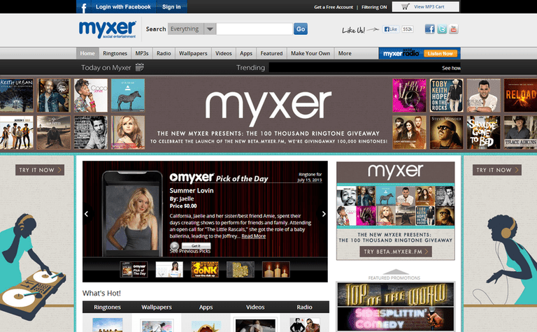Myxer free music downloads