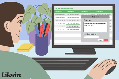 Illustration of a person moving between worksheets in Excel