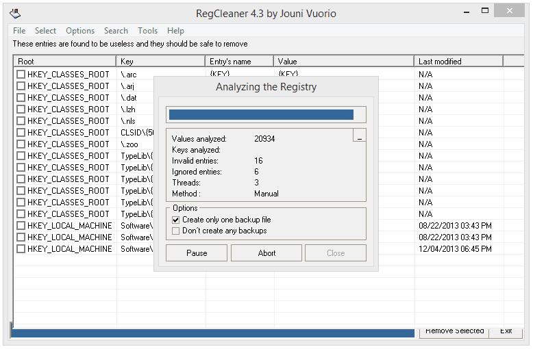 RegCleaner v4.3.0.780 Registry Cleaner