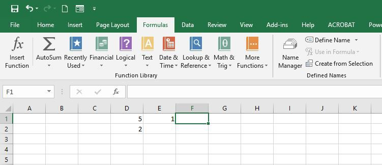 Showing MOD results in Excel.