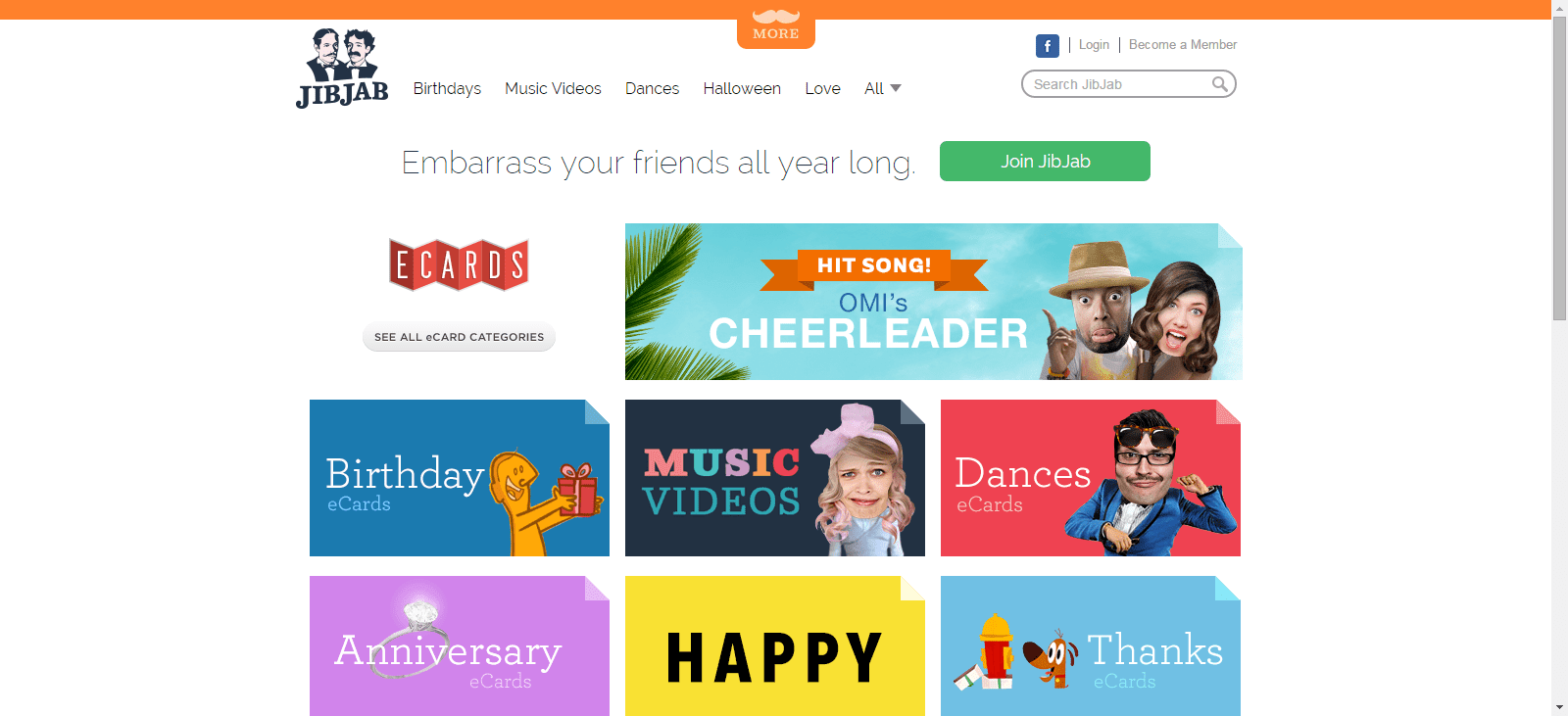The top 7 sites for free ecards you might be familiar with the crazy personalized video greetings that jibjab offers you can send these as free ecards post them on social media m4hsunfo