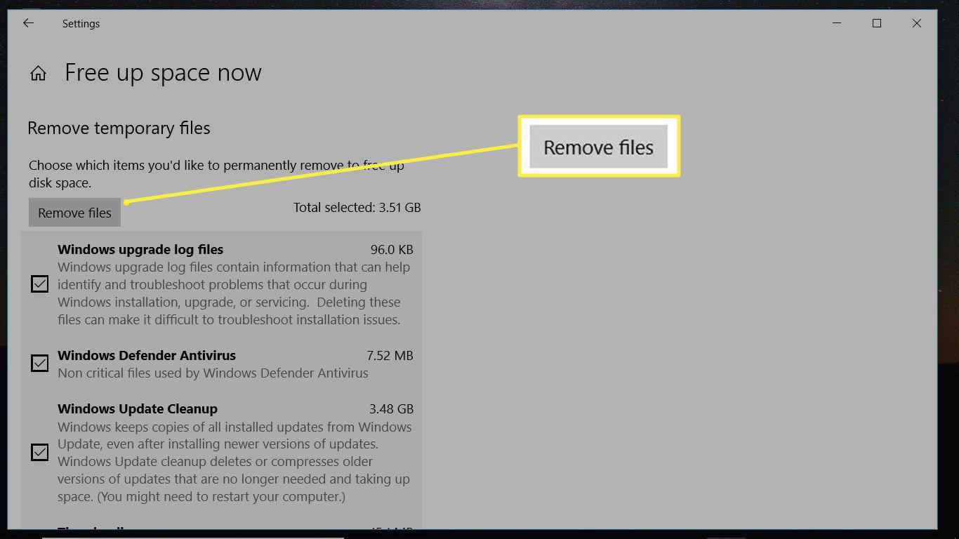 remove files