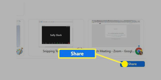 Zoom Share button