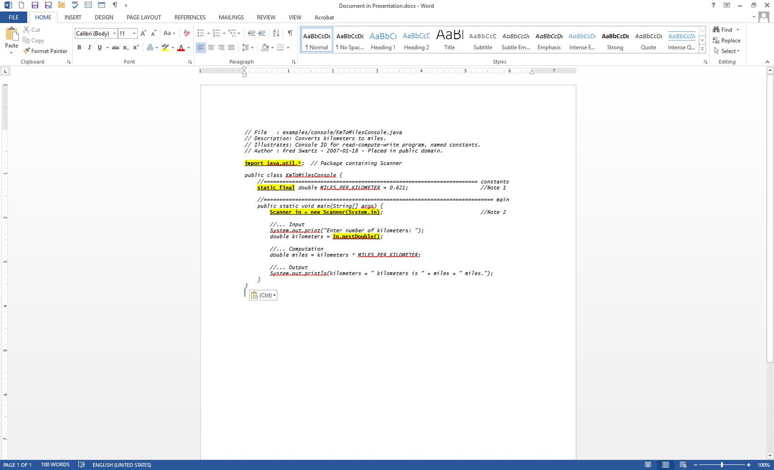 How to Insert Source Code Into a Word Document