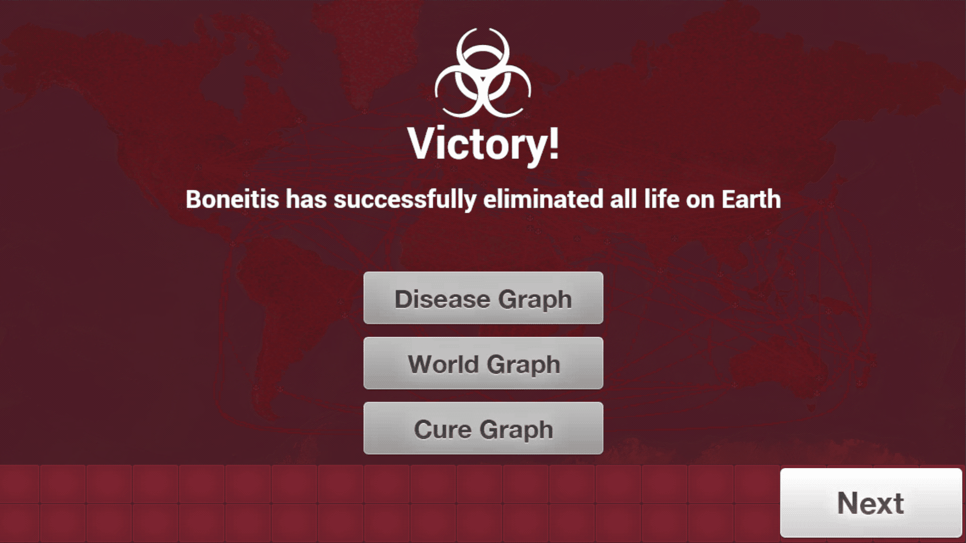Image result for Plague Inc Victory screen