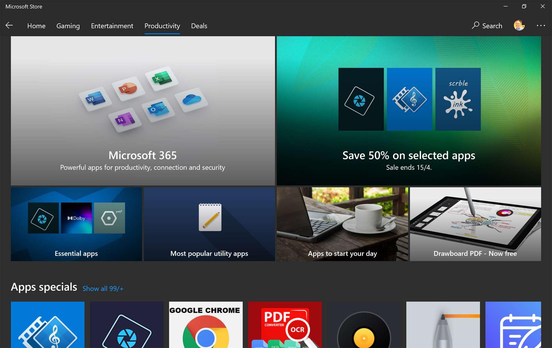 Windows 10 Microsoft Store app store,