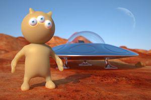 3 D Image of a Martian