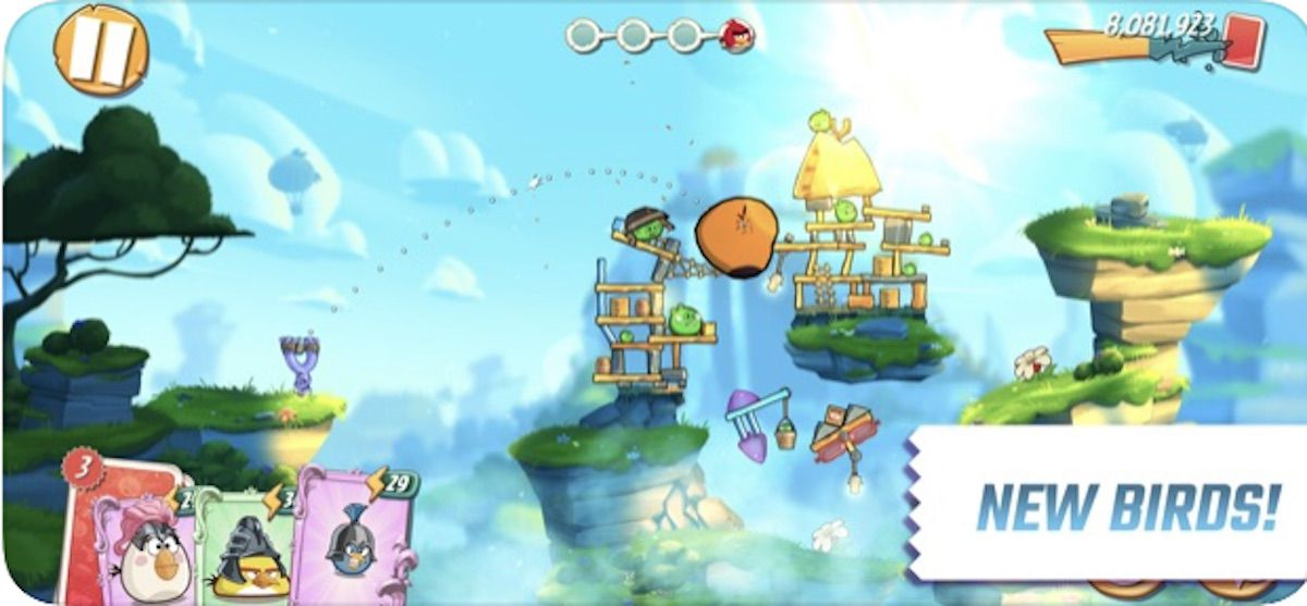 Game screen from Angry Birds 2